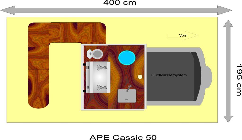 APE 50 Classik Grundriss