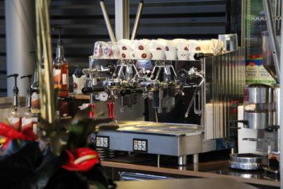 mobile Espressobar mit Siebträger Maschine