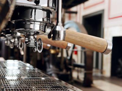 mobile Espressobar mit Siebträger Maschine , das Kaffeemobil