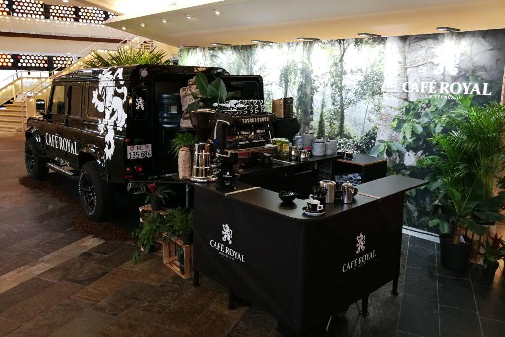 Landrover Defender Kaffeemobil Zuckerhut 2019 das Espressomobil