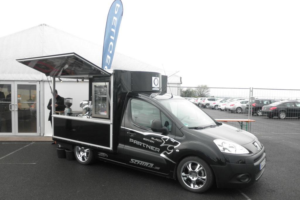 Peugeot Partner Black Edition Kaffeemobil
