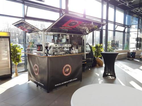 Mit dem Ape Espressomobil auf der 35 Kooperationsschmiede bei dem Autohaus Bibbig in Vellmar.
