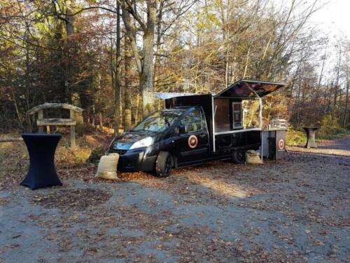 Beerdingung im Friedwald Reihardswald mit dem Espressomobil