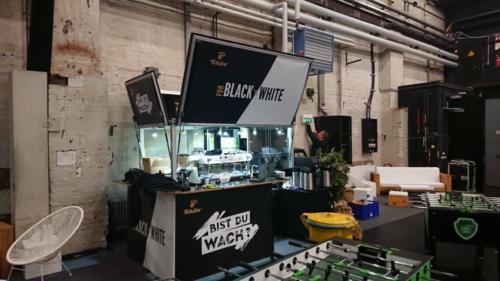 Das Kaffeemobil bei der Promotion auf dem Silpion Kicker Cup 2020 in Hamburg